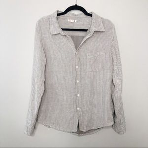 Sundry Striped Button Down Shirt Sz 2 M